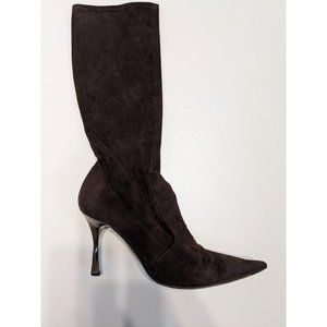 Casadei | Below-the-knee suede pointed boots